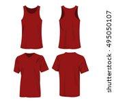 dark red  burgundy color sport... | Shutterstock .eps vector #495050107