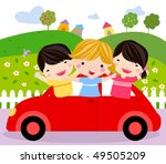 happy car | Shutterstock .eps vector #49505209