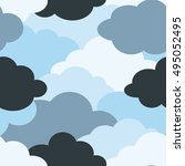 background pattern of a cloud | Shutterstock .eps vector #495052495