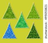 set of vector ornamental new... | Shutterstock .eps vector #495053821
