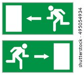 emergency exit left  emergency... | Shutterstock .eps vector #495054934