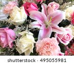 flowers abstract background | Shutterstock . vector #495055981