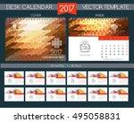 design desk calendar 2017.... | Shutterstock .eps vector #495058831