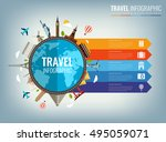 travel infographic.... | Shutterstock .eps vector #495059071