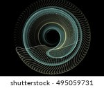 abstract computer generated... | Shutterstock . vector #495059731