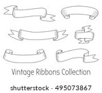 vintage ribbons collection.... | Shutterstock . vector #495073867