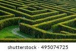labyrinth garden | Shutterstock . vector #495074725