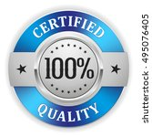 silver 100 percent certified... | Shutterstock .eps vector #495076405