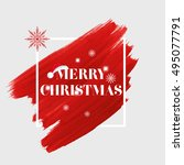 'merry christmas' sign text... | Shutterstock .eps vector #495077791