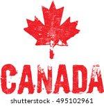 grunge canada leaf logo