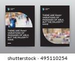 dark black economy minimalist... | Shutterstock .eps vector #495110254