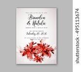 wedding invitation template    Shutterstock .eps vector #495113674