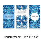 set of business cards. template ... | Shutterstock .eps vector #495114559
