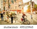 berlin  germany   october 7 ... | Shutterstock . vector #495125965