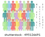 different but equal  | Shutterstock . vector #495126691