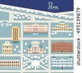 perm city. russia. vector... | Shutterstock .eps vector #495139879