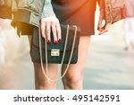 detail of a fashionable woman... | Shutterstock . vector #495142591
