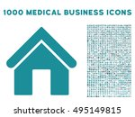 home icon with 1000 medical... | Shutterstock .eps vector #495149815