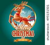 reindeer circle | Shutterstock .eps vector #495151501