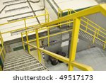 yellow emergancy exit staircase ... | Shutterstock . vector #49517173