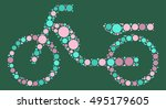 bicycle shape vector design by... | Shutterstock .eps vector #495179605