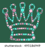 international chess shape... | Shutterstock .eps vector #495186949