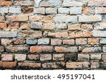 brick wall background or texture | Shutterstock . vector #495197041