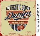 t shirt graphic denim... | Shutterstock .eps vector #495197119