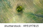 aerial view over agricultural... | Shutterstock . vector #495197815
