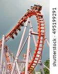rollercoaster ride | Shutterstock . vector #495199291