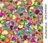 sketch of many abstract colored ... | Shutterstock . vector #495199459