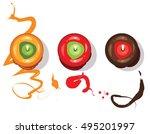 toffee apple. vector... | Shutterstock .eps vector #495201997