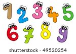 Cartoon Numbers On White...