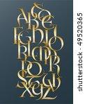 golden lombard alphabet   Shutterstock .eps vector #49520365