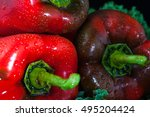 pepper  with water drops on... | Shutterstock . vector #495204424