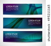 abstract header gradient purple ... | Shutterstock .eps vector #495211165