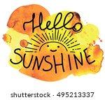 Hello Sunshine. Cute Pattern...