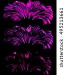 three flowers.   | Shutterstock .eps vector #495213661