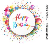 happy birthday banner with... | Shutterstock .eps vector #495215539