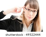 Young Business Woman In Glasse...