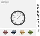 vector clock icon. vector... | Shutterstock .eps vector #495226831