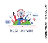 creative concept of english... | Shutterstock .eps vector #495227629