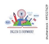 creative concept of english... | Shutterstock .eps vector #495227629