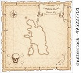 pangkor island old pirate map.... | Shutterstock .eps vector #495227701