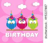 birthday card | Shutterstock .eps vector #495227887