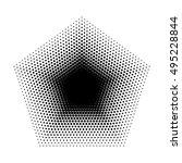 vector pentagon halftone... | Shutterstock .eps vector #495228844