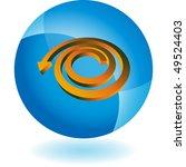 spiral arrow | Shutterstock .eps vector #49524403