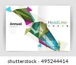 unusual abstract corporate... | Shutterstock .eps vector #495244414