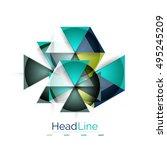 vector 3d geometric abstract...   Shutterstock .eps vector #495245209