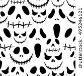 halloween background.seamless...   Shutterstock .eps vector #495246121